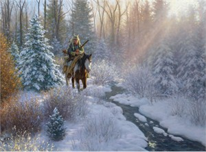 """Robert Duncan Hand Signed and Numbered Limited Edition Print:""""Winter Light"""""""