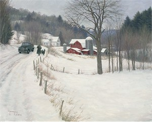 "Robert Duncan Hand Signed and Numbered Limited Edition Canvas Giclee:""Out for a Walk"""