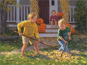 "Robert Duncan Hand Signed and Numbered Limited Edition Canvas Giclee:""The Boys of Autumn"""