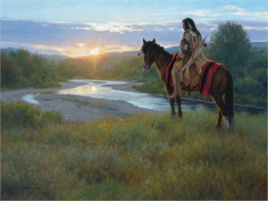 "Robert Duncan Hand Signed and Numbered Limited Edition Canvas Giclee:""First Light"""