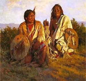 """Howard Terpning Handsigned & Numbered Limited Edition Giclee on Canvas:"""" Medicine Shield of the Blackfoot """""""