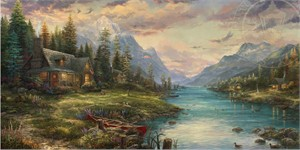 "Thomas Kinkade Limited Edition Giclee on Paper and Canvas:""A Perfect Father's Day"""