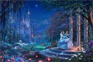 "Thomas Kinkade Disney Limited Edition:""Cinderella Dancing in the Starlight"""