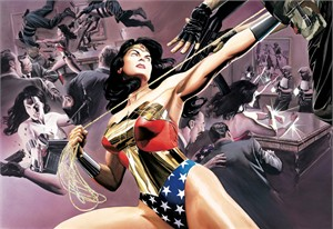 "Alex Ross Artist Signed and Numbered Limited Edition Giclee on Paper:""Wonder Woman - Defender of Truth"""