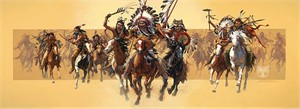 """Bev Doolittle Handsigned and Numbered Masterwork Limited Edition Canvas Giclee :""""Beyond Negotiations"""""""