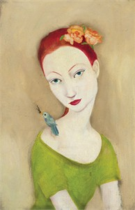 """Cassandra Barney Handsigned and Numbered  Limited Edition Giclee on Canvas :""""Little Secrets"""""""