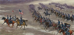 """Mort Künstler Hand Signed and Numbered Limited Edition Canvas Giclee:""""Rush's Lancers"""""""