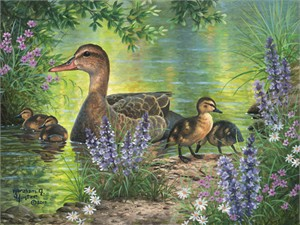 "Abraham Hunter Hand Signed and Numbered Limited Edition Embellished Canvas Giclee:""Field Trip"""