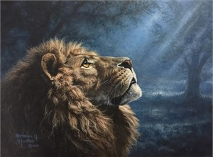 """Abraham Hunter Hand Signed and Numbered Limited Edition Embellished Canvas Giclee:""""Humility"""""""