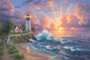 "Abraham Hunter Hand Signed and Numbered Limited Edition Embellished Canvas Giclee:""Light of Hope"""