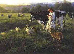 "Robert Duncan Limited Edition Print: ""Out in the Pasture"""