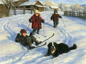 "Robert Duncan Limited Edition Print: ""The Ski Team"""