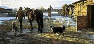 "Robert Duncan Limited Edition Print: ""Icy Morning"""