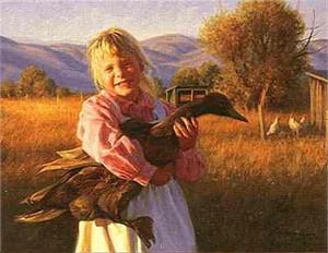 "Robert Duncan Limited Edition Print: ""Love A Duck"""