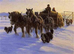 "Robert Duncan Limited Edition Print: ""Four Horse Power"""