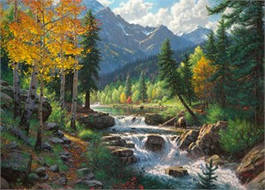 """Mark Keathley Hand Signed and Numbered Limited Edition Embellished Canvas Giclee:""""Mountain Melody"""""""