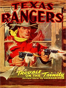 "Other Pulp Covers Vintage Re-mastered Gallery Wrap Canvas Giclee Reproduction:""Texas Rangers SF127"""