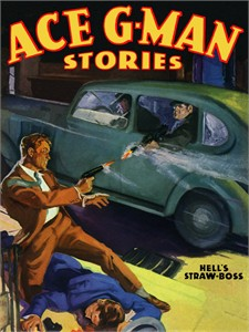 "Ace G-Men Vintage Re-mastered Gallery Wrap Canvas Giclee Reproduction:""ace-gman-stories--sf298"""