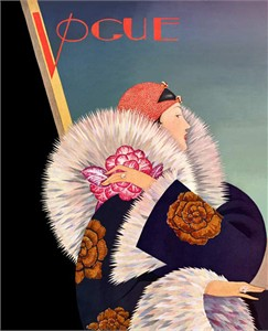 """Vogue Covers Vintage Re-mastered Gallery Wrap Canvas Giclee Reproduction:""""Vogue T28"""""""