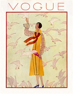 "Vogue Covers Vintage Re-mastered Gallery Wrap Canvas Giclee Reproduction:""Vogue T47"""