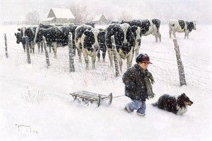 """Robert Duncan Limited Edition Giclee on Canvas:""""Curious Onlookers"""""""