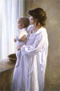"Robert Duncan Limited Edition Giclee on Canvas:""Mother and Son """