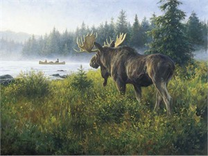 "Robert Duncan Limited Edition Giclee on Canvas:""In His Domain"""
