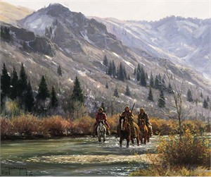 "Robert Duncan Limited Edition Giclee on Canvas:""In The Canyon"""