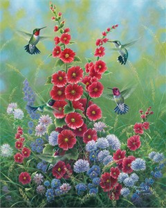 "Abraham Hunter Hand Signed and Numbered Limited Edition Embellished Canvas Giclee:""Joys of Summer"""