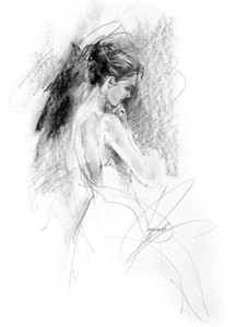 """Anna Razumovskaya Hand Signed and Numbered Limited Edition Artist Embellished Canvas Giclee: """"RHAPSODY 2"""""""