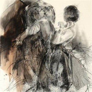 """Anna Razumovskaya Hand Signed and Numbered Limited Edition Artist Embellished Canvas Giclee: """"Perfect Balance 1"""""""