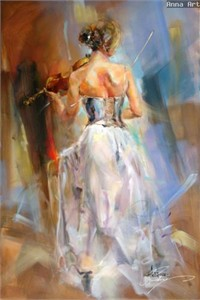 "Anna Razumovskaya Hand Signed and Numbered Limited Edition Artist Embellished Canvas Giclee: ""Soul Enchanted"""