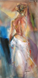 "Anna Razumovskaya Hand Signed and Numbered Limited Edition Artist Embellished Canvas Giclee: ""Toward The Sunrise"""