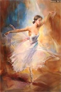 "Anna Razumovskaya Hand Signed and Numbered Limited Edition Artist Embellished Canvas Giclee: ""FLYING DREAM"""