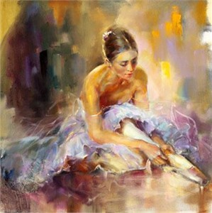 "Anna Razumovskaya Hand Signed and Numbered Limited Edition Artist Embellished Canvas Giclee: ""Reminiscence"""