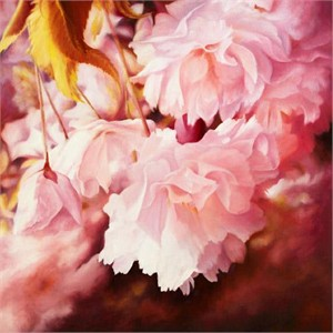 """Ludmila Yudina Hand Signed and Numbered Limited Edition Artist Embellished Canvas Giclee: """"Magic Blossom"""""""