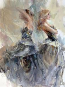 "Anna Razumovskaya Hand Signed and Numbered Limited Edition Artist Embellished Canvas Giclee:""Hesperides 2"""
