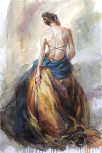 """Anna Razumovskaya Hand Signed and Numbered Limited Edition Artist Embellished Canvas Giclee:""""Envision"""""""