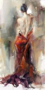 "Anna Razumovskaya Hand Signed and Numbered Limited Edition Artist Embellished Canvas Giclee:""Captivation 1"""