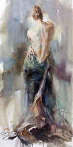 "Anna Razumovskaya Hand Signed and Numbered Limited Edition Artist Embellished Canvas Giclee:""Captivation 2"""
