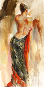 "Anna Razumovskaya Hand Signed and Numbered Limited Edition Artist Embellished Canvas Giclee: ""Aurora"""
