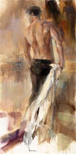 "Anna Razumovskaya Hand Signed and Numbered Limited Edition Artist Embellished Canvas Giclee:""The Winner"""