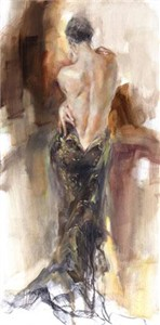 """Anna Razumovskaya Hand Signed and Numbered Limited Edition Artist Embellished Canvas Giclee:""""Acceptance"""""""