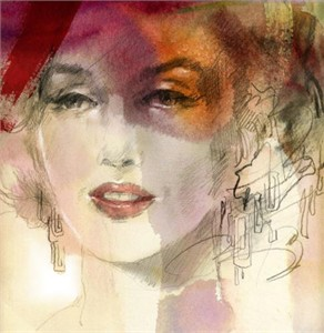 "Anna Razumovskaya Hand Signed and Numbered Limited Edition Artist Embellished Canvas Giclee:""Sense of a Woman 4"""