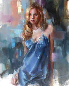 "Anna Razumovskaya Hand Signed and Numbered Limited Edition Artist Embellished Canvas Giclee: ""Étape 2"""