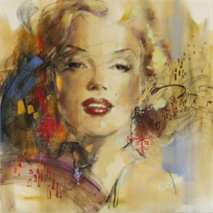 """Anna Razumovskaya Hand Signed and Numbered Limited Edition Artist Embellished Canvas Giclee: """"Blonde Ambition 2"""""""