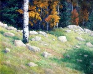 "Ron Bausch Original Oil Painting: ""Aspen Country"""