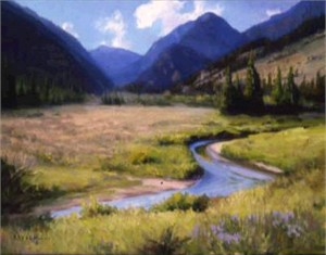 "Ron Bausch Original Oil Painting: ""Behind Mt. Sneffles"""