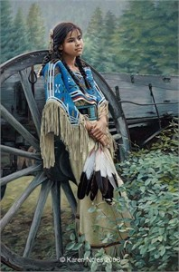 """Karen Noles Handsigned and Numbered Limited Edition Giclee Canvas: """"Tranquill Dreamer"""""""