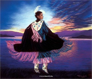 "Karen Noles Handsigned and Numbered Limited Edition Paper Giclee: ""Sacred Sunset"""